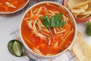 ingredientes sopa de fideo mexicana