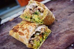 Burritos de carne asada: paso a paso