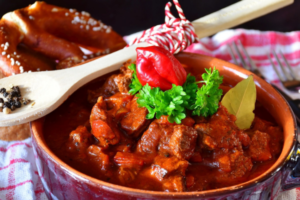 carne con chile colorado receta