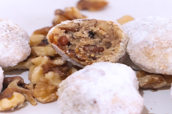 galletas besos de nuez preparación